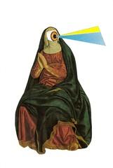 Religious Kitsch (dadadreams (Michelle Lanter)) Tags: religiouskitsch nun cyclops oneeyed collage collageart
