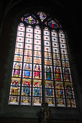 Beautiful stained glass in Ghent (quinet) Tags: belgium stainedglass vitrail bruges glasmalerei antwerp ghent flanders 2014 saintbavocathedral