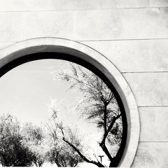 Obl (Jessica Bizzoni) Tags: summer bw italy detail window composition circle concrete mirror theater architecturaldetail theplacetobe