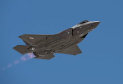 F-35 Lightning II Overflight (Fly to Water) Tags: f35 lightning ii fighter jet combat aircraft lockheed martin joint strike war military generation 5 v 5th vehicle outdoor blue sky aviation professional photography underside bottom view plane airplane stealth