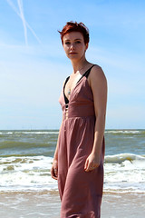 Beach (biancaaalberts) Tags: pink sea sun holiday beach water sunshine fashion strand canon hair outside sand nederland castricum jumpsuit uitgeest canoneos1200d