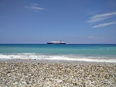 quietly passing by (Louke73) Tags: samos greece beach pebbles bluesea