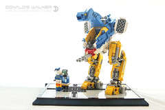 Donald's Mech Walker (dvdliu) Tags: lego moc mech walker mecha donald duck disney robot