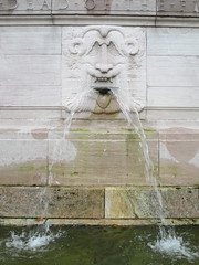 Confused Lion Fountain in Riverside Drive Park 3777 (Brechtbug) Tags: confused lion fountain riverside drive park 08212016 part the firemans memorial water fountains profile new york public parks 100th street nyc statues sculpture summer weather art architecture statue stone cool blue clear refreshing lions animal animals falling waters 2016