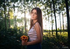 Flowers (dontgiveacake) Tags: girl flowers forest bokeh fujifilm fine art retouch portrait