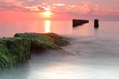 Wicie, Baltic Sea (h3rmes) Tags: sea baltic longexposure stoneswater beach