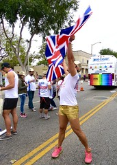 IMG_5935 (danimaniacs) Tags: westhollywood gay pride gold shorts bulge flag colorful