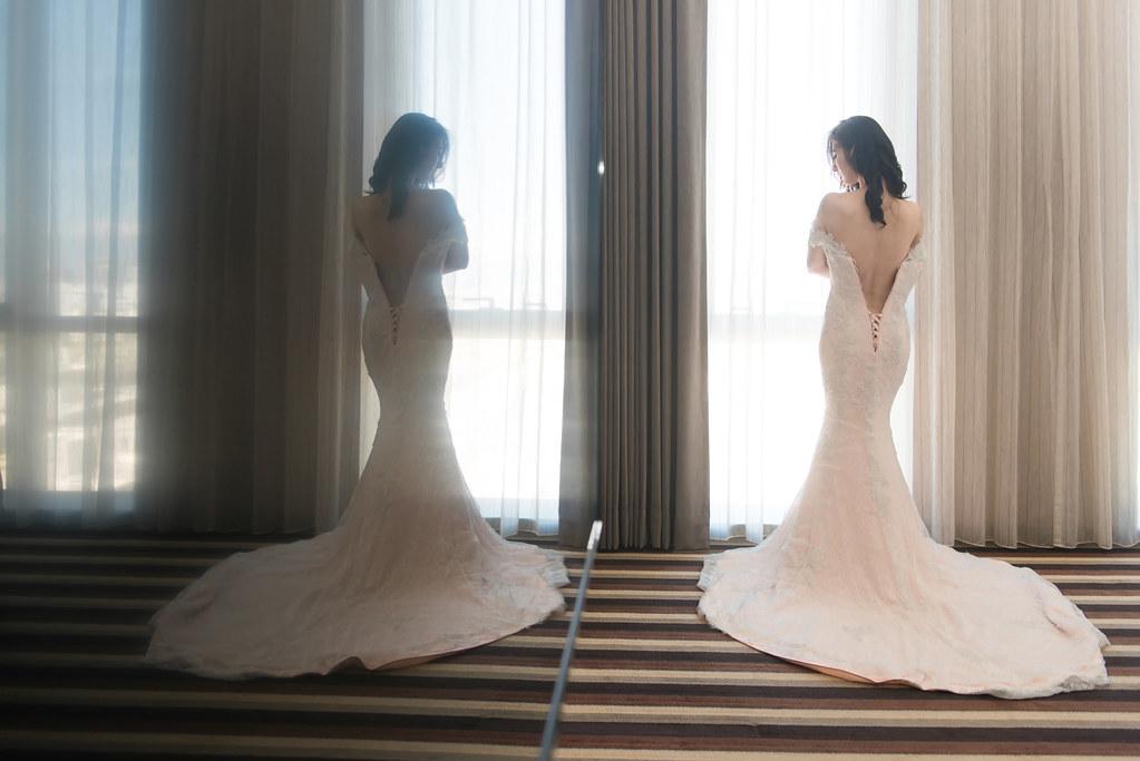 裸背新娘,尚順君樂飯店婚攝