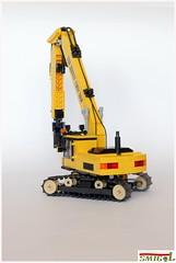 Demolition excavator (Smigol_) Tags: demolition excavator moc smigol wheels hevy lego caterpillar cat shear hyundai large volvo komatsu koparka budowa wyburzenie burzenie