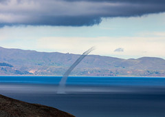 End of a Water Spout (Rob Whittaker Photography) Tags: waterspout titicaca bolivia isladelsol southamerica robwhittaker nature weather travel lagotiticaca sazzoo sazzoocom robwhittakerphotography canon canonphotography canoneos5dmkiii