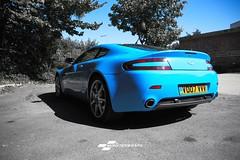 Aston Martin DB8 Gloss light blue wrap (Sean at Monsterwraps Ltd) Tags: monsterwraps southampton hampshire uk automotive car cars carwrap carwrapping carwrappinguk 3m avery paintisdead layednotsprayed luxurycars luxury supercar supercards supercars astonmartin aston db8 astonmartindb8 007 bond jamesbond