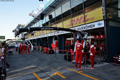 Ferrari garage and pits