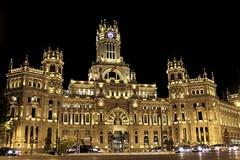 """Palacio de Comunicaciones"" (Joham Amaya) Tags: cibeles spain madrid europe correos edificio arquitecture engineering streetphotography night canon refugeeswelcome"