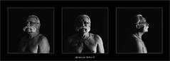 triptyque (ju.lepine) Tags: bacchante barbe barbus bebar triptyque portrait nb noirblanc