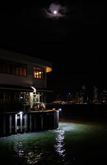 """""""mid-autumn evening"""" (hugo poon - one day in my life) Tags: xt2 23mmf2 hongkong kowloon hunghom hunghomferrypier midautumnfestival moon victoriaharbour citynight lights colours empty silence quietness longnight"""