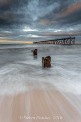 Broken (Steven Peachey) Tags: seascape sunset sea coast sky beach clouds pier steetley hartlepool sand posts exposure canon backwash light portrait ef1740mmf4l canon6d leefilters lee09gnd lee06gnd stevenpeachey lightroom5 northeastengland northeastcoast steetleypier