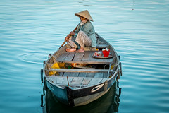 Blue Serenity (Quentin K) Tags: blue vietnam hoian travel boat river landscape contrast color adventure sony