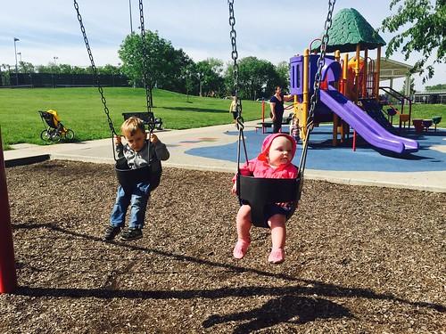 Swinging with my friend, Jorah 😊 #day308