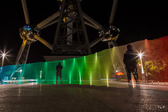 AtoRainbow (tOntOnfred LP) Tags: light brussels lightpainting night painting bruxelles brussel atomium lightart