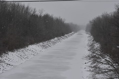 Clinton's Big Ditch (tonuzi) Tags: trees winter snow newyork history ice canal buffalo nikon engineering upstatenewyork amherst lockport eriecanal d300s