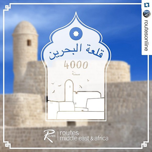 "#Repost @routesonline  6 days to go until #RoutesMEA Bahrain Fort, also known as Qal'at al-Bahrain, has been termed as Bahrain's ""most important site in antiquity"". Excavation of the site has revealed that it is an artificial mound made up of layers creat"