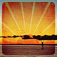 Sunrise Tales (Thought Knots Design) Tags: ocean road travel nova digital photoshop sunrise painting logo photography design coast thought graphic natural harbour off atlantic east trail maritime grime scotia knots epic tkd branding antigonish