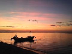 Coucher de soleil sur Gili Air