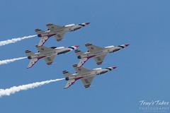 U.S. Air Force Thunderbirds four ship flyby