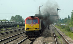 DBS Class 60 010 eastbound approaching Barnetby [6K23 ~ Santon to Immingham BSC Ore Terminal] (soberhill) Tags: dbs ironore santon immingham class60 barnetby 60010 6k23