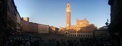 Piazza del Campo, Siena (marisa.gr) Tags: plaza sunset italy square landscape europa europe italia tramonto torre tuscany campo siena piazza toscana piazzadelcampo