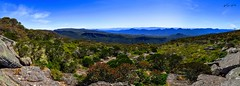 Panorama on Mt. Williams (Stawroncs) Tags: park travel vacation panorama mountain holiday tourism nature beauty high saturated nikon colorful dynamic outdoor under vivid australia wideangle down william grampians tourist panoramic mount national destination wilderness aussie awe range epic hdr horizont austarlia d5100 mountaious duwil