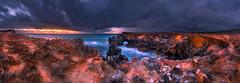 Silk & Razor (MartinHroch) Tags: ocean sunset sea panorama storm beach nature yellow creek landscape outdoor scenic australia cliffs limestone southaustralia southend limestonecoast stormyclouds greensea capebuffon martinhroch