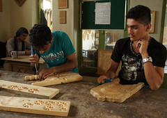 Learnin from each other (annikaAn) Tags: afghanistan woodwork