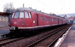 456 107  Mosbach  29.01.84 (w. + h. brutzer) Tags: analog train germany deutschland nikon eisenbahn railway zug trains db 456 mosbach eisenbahnen triebwagen triebzug et56 triebzge webru