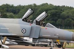 Greek F4E Phantoms. (aitch tee) Tags: aircraft arrivals raffairford f4ephantom hellenicairforce greekairforce riat2016 royalinternationalairtattoo2016 wednesday6july2016