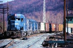 CR 2246, ALRU-5, Allentown, PA. 12-15-1979 (jackdk) Tags: train railroad railway conrail cr alru rtower reading readingline tower emd emdgp30 gp30 freighttrain freight