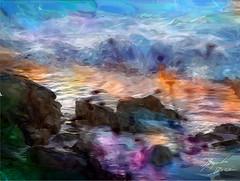 Quintero (Diez Visualcreativo) Tags: chile digital photoshop atardecer mar foto arte alejandro olas pintura diez quintero creativo rompe roquerio photoshopcreativo visualcreativo