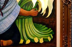 Rivera, Calla Lily Seller (detail), 1942 (profzucker) Tags: diegorivera rivera mexico mexicocity peasant flowers lilies callalilies calla modern painting art arthistory