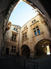 Inner Courtyard (K.G.23) Tags: 75mmf35 olympus mft fisheye omdem5markii samyang m43 rokinon vscofilm04 vscofilm omd bower lesbauxdeprovence provencealpesctedazur france fr