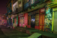 Barrio de La Boca (karinavera) Tags: travel nikond5300 laboca street argentina longexposure night buenosaires colorful colors riodelaplata old barrio wallart art wall exploration urban caminito multicolor view urbanexploration cityscape downtown emblematicplaces city noche calle caba