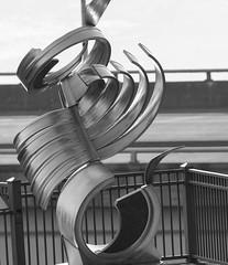Local sculpture in Monochrome (rpennington9) Tags: sculpture art outdoorart negativespace tennessee chatanooga metalsculpture nikon nikond90