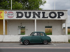 Austin A35 at Reims-Gueux Circuit (NealJWelch) Tags: road trip france classic vintage austin mod europe retro mans le modified saloon circuit reims modded a30 a35 2016 gueux
