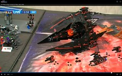 Demon's Maw at Brickfete 2016 - In the Toronto local news! (armoredgear7) Tags: ship lego space scifi shiptember