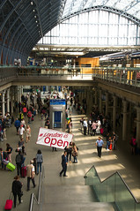 Our Station is Open (apcwalker) Tags: ohs londonisopen london art project campaign open for good st pancras station train db