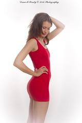 Kathryn Jordan (Dana Brady) Tags: red 50mm dress homestudio pentaxk3 daveanddanaphotography