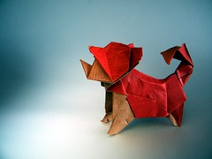 Perro (Shiba Inu) - Oriol Esteve (AKA trickster origamist) (Rui.Roda) Tags: origami papiroflexia papierfalten co cachorro chien dog perro shiba inu oriol esteve trickster origamist