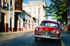 Cienfuegos (Simone Della Fornace) Tags: street old city travel red tourism car architecture buildings sony cuba cuban a7rii