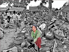 The Burmese girl (Bruno Zaffoni) Tags: inlelake myanmar hdr photoshop graphic drawing experiments
