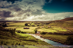 Yorkshire Water for Yorkshire Tea I (go18lf2004) Tags: yorkshiredales farming landscape sky clouds sheep rurallife water river drystonewalls mood atmosphere buildings outdoors