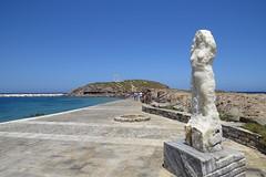 IMG_0091 (john blopus) Tags: naxos   hellas greece  island cyclades  beach  sea   water   statue archaelogicalsite